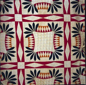 Whigs Defeat pattern pieced quilt, made by Louisa Green Furches Etchison ca. 1852, Davie County, N.C. From the collections of the North Carolina Museum of History, used courtesy of the North Carolina Department of Cultural Resources.