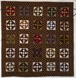 Washington Sidewalk quilt made by Mary Herring, ca. 1879, Sampson County, N.C. From the collections of the North Carolina Museum of History, used courtesy of the North Carolina Department of Cultural Resources.