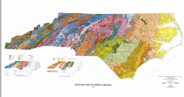 Link to Geologic Survey of North Carolina.  From the USGS, NCDENR.