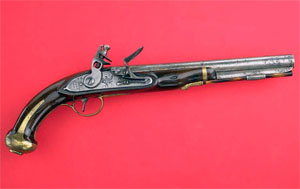 U.S. Model 1805 Rifled Flintlock Pistol.  From the National Museum of American History, Smithsonian Institution.