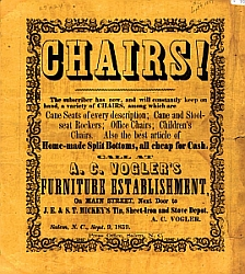 Chairs! Advertisement from Duke University's Digital Scriptorium