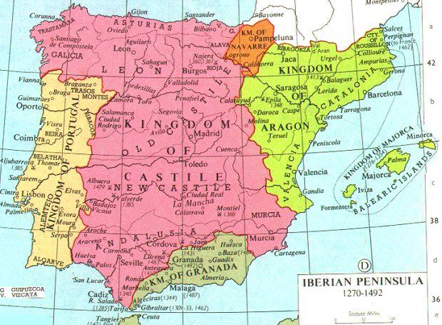 Map Of Spain 8th Century.Ncpedia Ncpedia