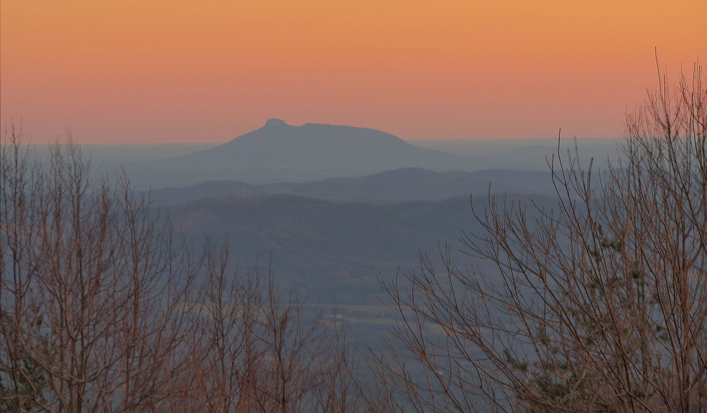 Pilot Mountain from the Blue Ridge Parkway