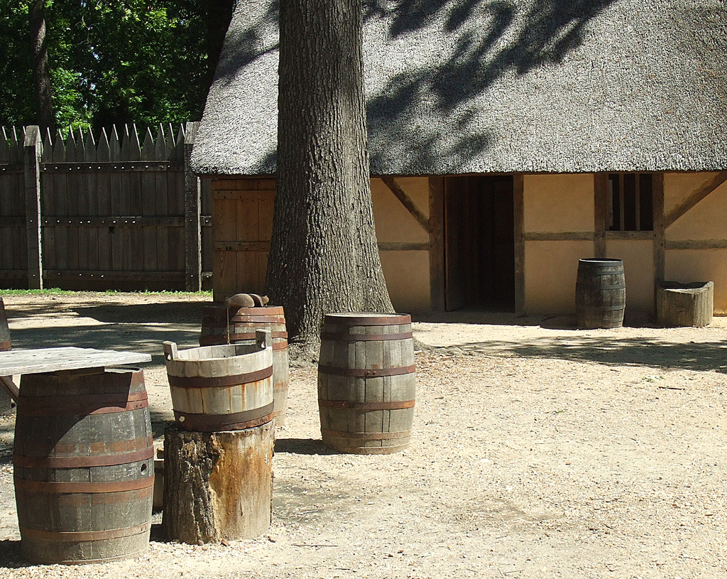 Jamestown settlement reconstruction