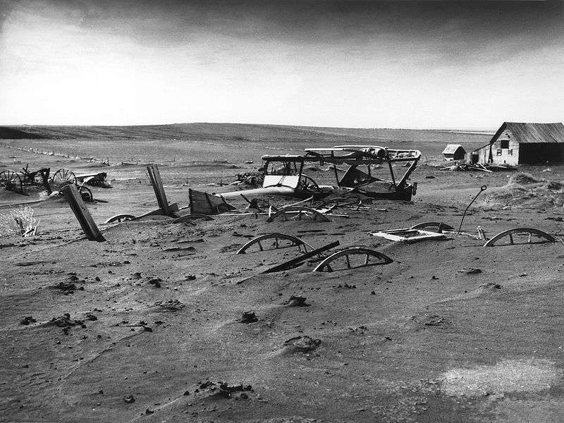 Dust Bowl in South Dakota, 1936