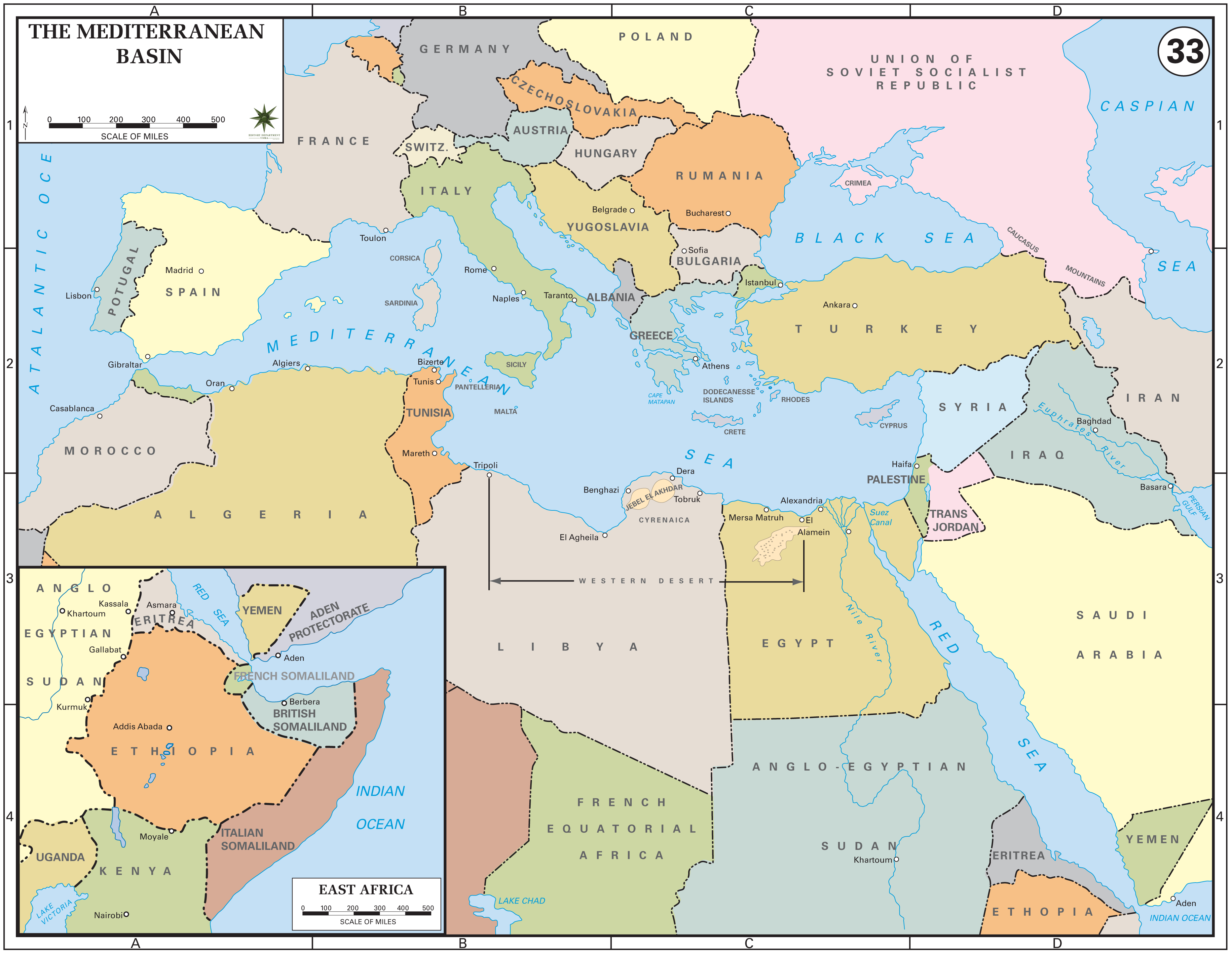 World War 2 Europe And North Africa Map Casablanca