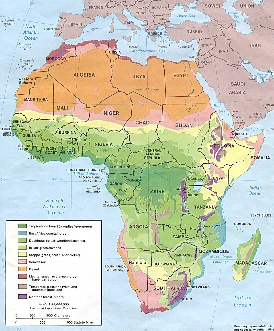 Map Of Africa 1700.Ncpedia Ncpedia