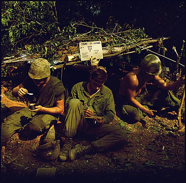 Soldiers in bunker