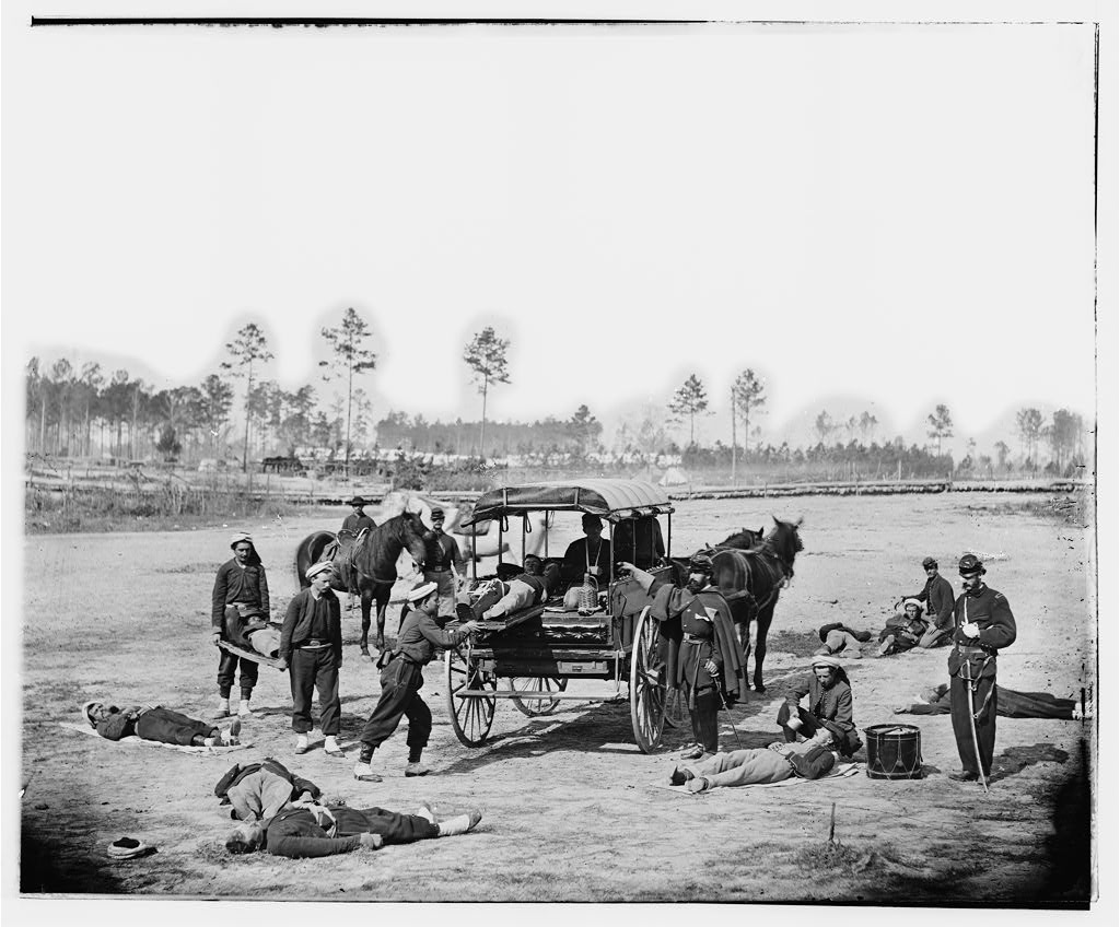 Civil War ambulance crew