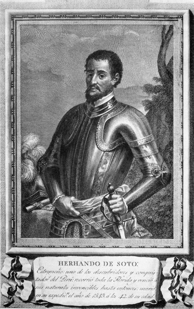 1791 engraving of Hernando de Soto