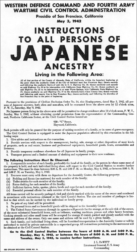 Poster was displayed in San Francisco in May 1942