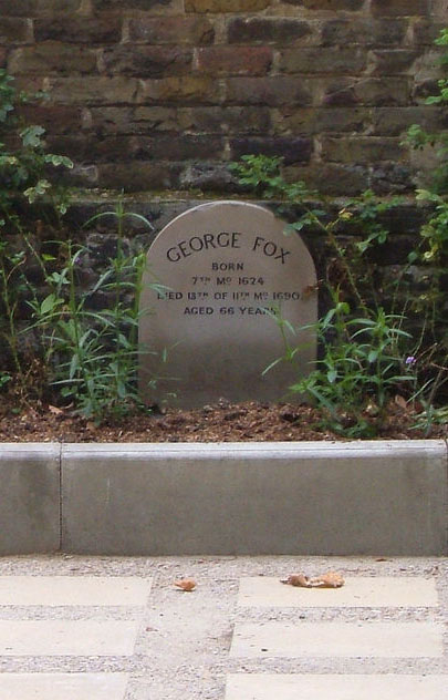 George Fox's grave marker