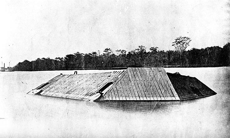 The Albemarle after it was sunk