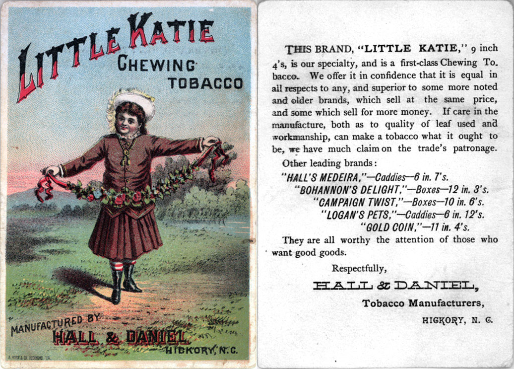 Little Katie chewing tobacco -- trading card