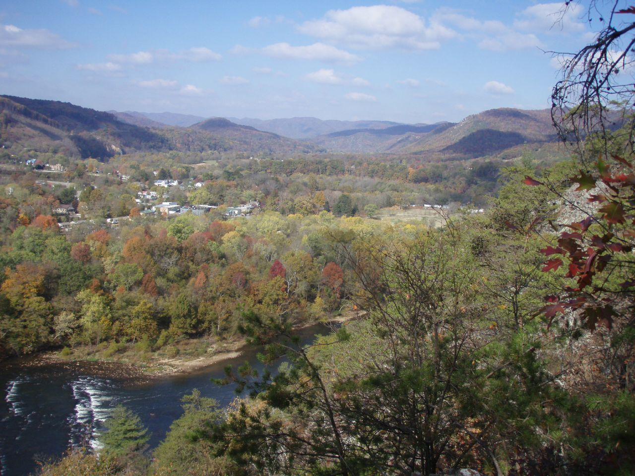 A view of Hot Springs, NC