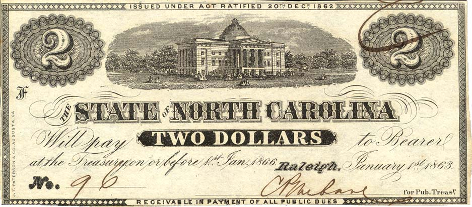 two-dollar note, 1863
