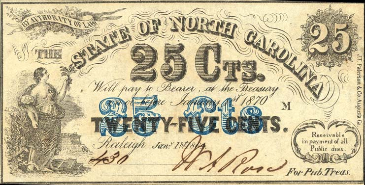 25-cent note, 1862