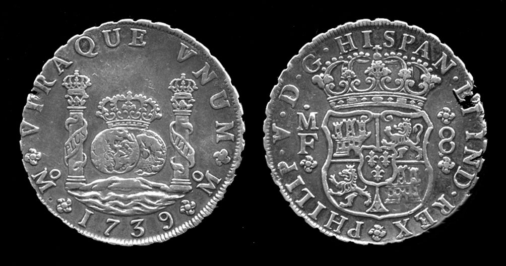 Spanish dollar from the reign of Philip V, 1739