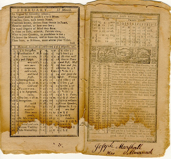 Poor Richard's Almanack, February 1759