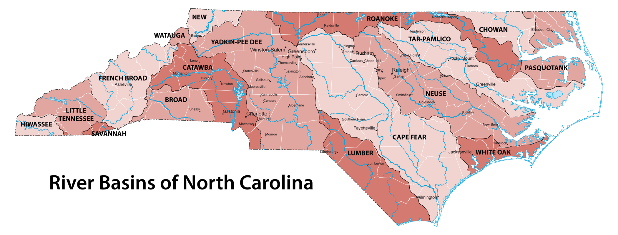 Rivers and river basins of North Carolina