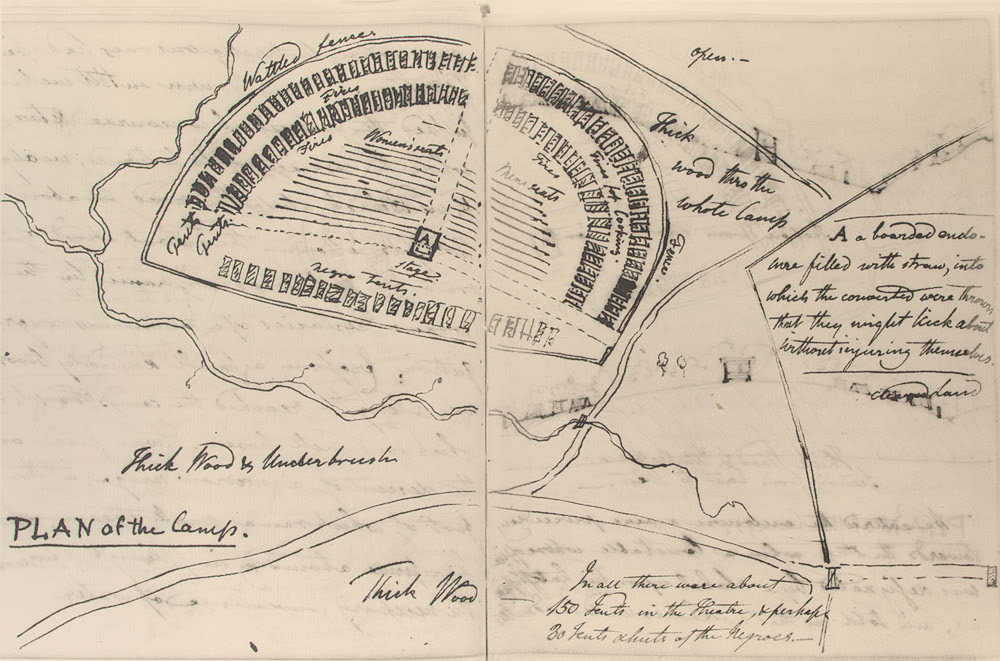 Plan of a camp meeting, 1809