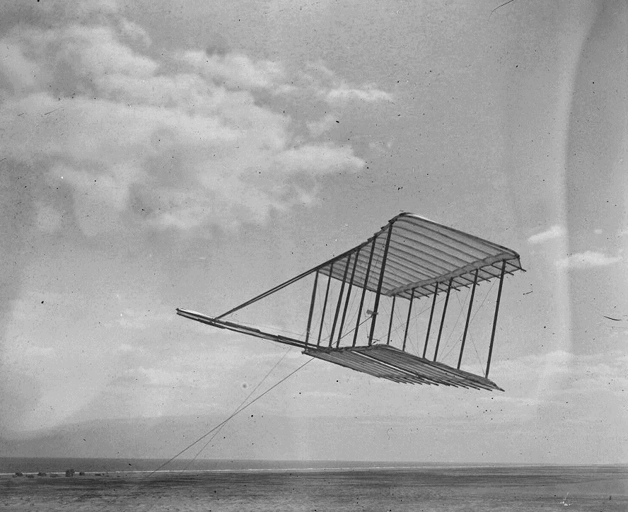 The Wright brothers' first glider