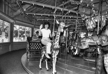 The carousel at Pullen Park in Raleigh, 1983. Courtesy of North Carolina Office of Archives and History, Raleigh.