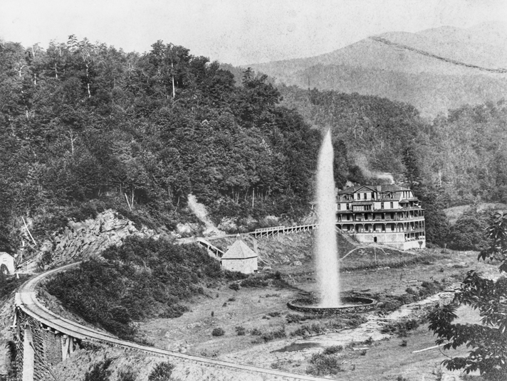 Andrews Geyser And Round Lodge Ca 1890s North Carolina Collection University
