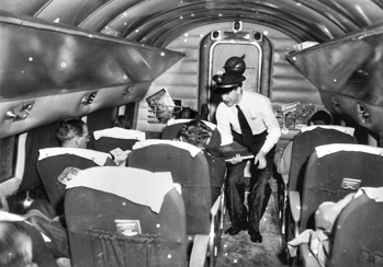 Interior of a Piedmont Airlines plane, 1950. Courtesy of North Carolina Office of Archives and History, Raleigh.