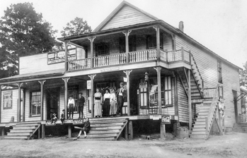 Lamreth-Crutchfield store at Moncure in Chatham County, ca. 1918. North Carolina Collection, University of North Carolina at Chapel Hill Library.