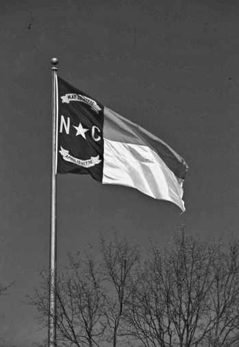 The state flag of North Carolina. Photograph courtesy of North Carolina Division of Tourism, Film, and Sports Development.