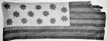 The Guilford Courthouse Flag. Courtesy of North Carolina Office of Archives and History, Raleigh.