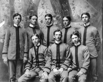 Members of the class of 1900 at the Horner School in Oxford. North Carolina Collection, University of North Carolina at Chapel Hill Library.