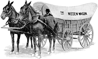 A Nissen wagon as shown in an advertisement that appeared in the Southern Tobacco Journal, 17 June 1919. Courtesy of North Carolina Office of Archives and History, Raleigh.