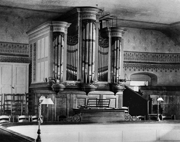 Tannenberg organ in Home Church in Old Salem, 1890s. Courtesy of Old Salem, Inc.