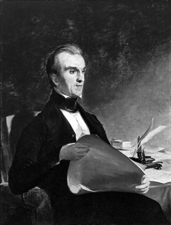 James K. Polk. Painting by Thomas Sully. Original owned by the Dialectic and Philanthropic Literary Society, UNC-Chapel Hill. Dialectic and Philanthropic Societies Foundation, UNC-Chapel Hill.