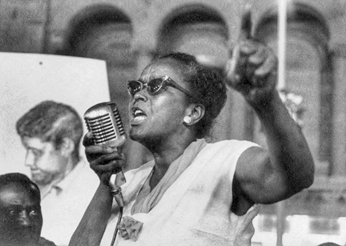 SNCC organizer Ella Baker, 1964. Photograph copyright 1978 George Ballis/Take Stock.