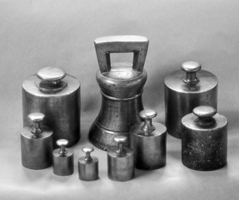 A collection of weights and measures held at the Orange County Museum in Hillsborough. Photograph by Jerry Cotten.