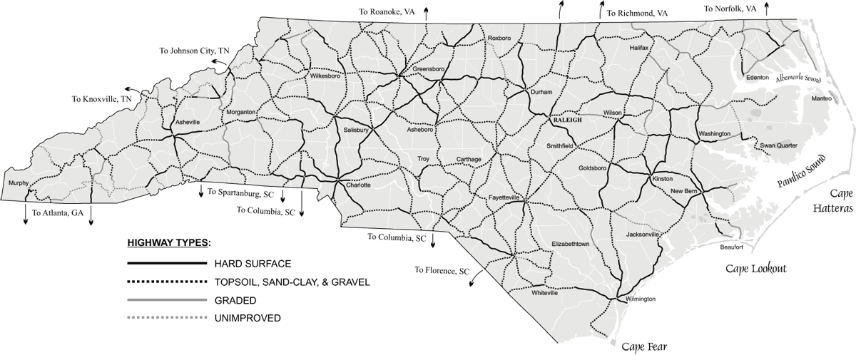 Highways Part 2 North Carolinas Highway System Takes Shape NCpedia