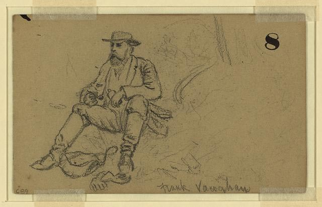"Drawing of ""Frank Vaughan."" Presented on Library of Congress."