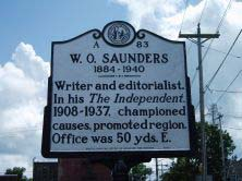 William Oscar Saunder's marker on US 17 Business (North Road Street) at East Colonial Avenue in Elizabeth City. Photo is presented on North Carolina Highway Historical Marker Program.