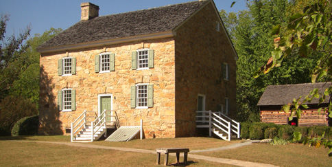 Hezekiah Alexander House. Image courtesy of the Charlotte Museum of History.