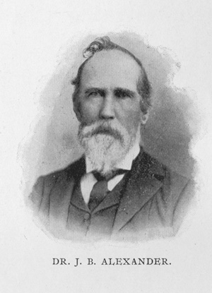 Dr. John Brevard Alexander. Photo courtesy of the Robinson-Spangler Carolina Room, available from the Charlotte Mecklenburg Story.