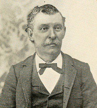 A photograph of Wyatt J. Armfield published in 1902. Image from the Internet Archive.