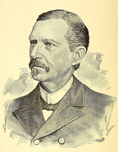 An engraving of Christopher Thomas Bailey published in 1895. Image from the Internet Archive.