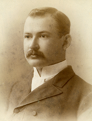 An 1891 photograph of John Spencer Bassett. Image from the Duke University Archives.