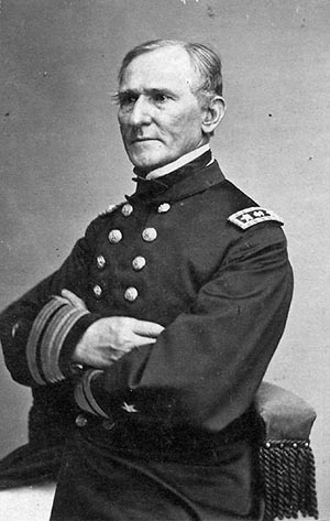Photograph of Rear Admiral Henry Haywood Bell, circa 1866. Image from the United States Navy.