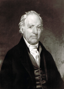 A photograph of a portrait of Richard Bennehan believed to be painted by John J. Jarvis. Image from the North Carolina Historic Sites.