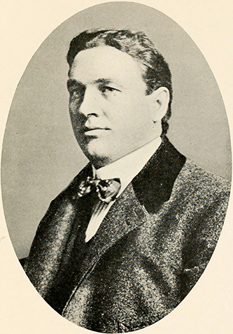 A photograph of Edmond Spencer Blackburn published in 1915. Image from the Internet Archive.