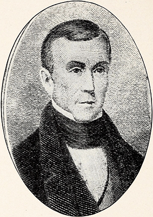 An engraving of Ratliff Boon published in 1909. Image from the Internet Archive.